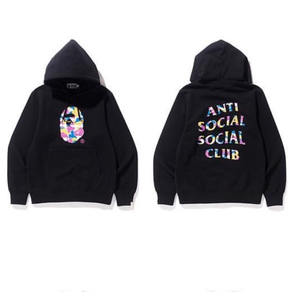 8d3c0b84f874 Bape x anti social social club assc hoodie large